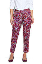 Classic Women's Petite Pre-hemmed Slim Twill Pants-Berry Rouge Print