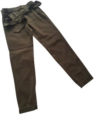 Sessun Khaki Wool Trousers for Women