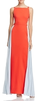 BCBGMAXAZRIA Square Neck Color Block Gown - 100% Exclusive