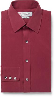 Turnbull & Asser Burgundy Silk Shirt