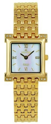 Oskar Emil Toledo Gold Plated Ladies Diamond Watch