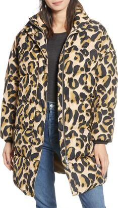 Scotch & Soda Long Animal Print Jacket