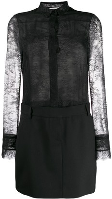 Philosophy di Lorenzo Serafini Combined Lace Shirt Dress