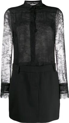 Philosophy di Lorenzo Serafini combined lace shirt dress