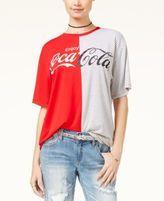 Hybrid Juniors' Enjoy Coca-Cola Split Graphic T-Shirt