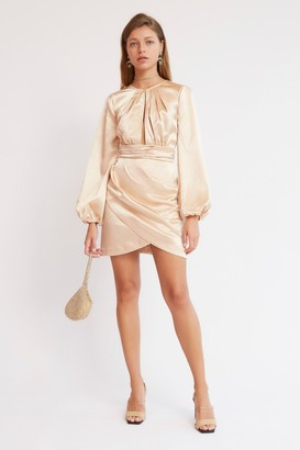 Finders Keepers LUCINDA MINI DRESS Oyster