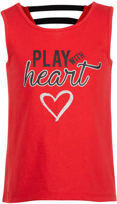 Ideology Toddler Girls Play with Heart Graphic Tank Top