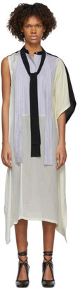 J.W.Anderson Off-White Contrast Patchwork Tie Dress