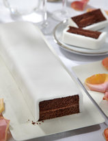 Marks and Spencer Wedding Cutting Bar Cake - Chocolate with White Icing
