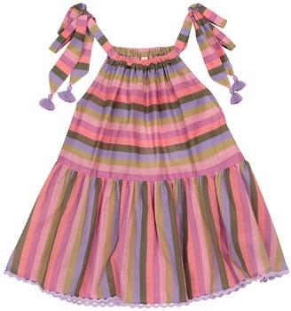 Zimmermann Kids Poppy striped cotton voile top