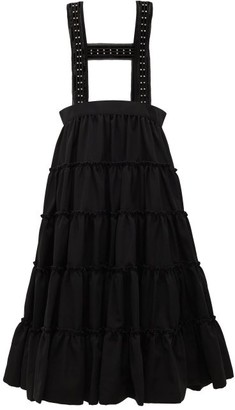 Noir Kei Ninomiya Studded Crepe Pinafore Skirt - Womens - Black