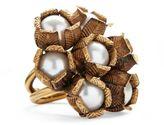 Ralph Lauren Flower Crystal-Pearl Ring Gold/Pearl 8