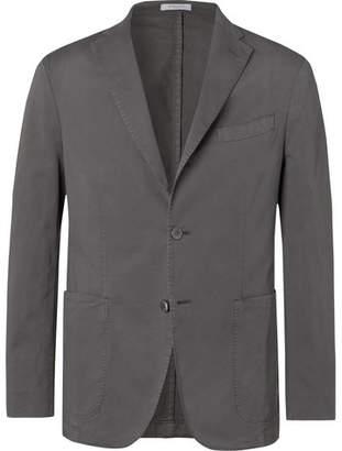 Boglioli Grey K-Jacket Slim-Fit Unstructured Cotton-Blend Twill Suit Jacket
