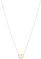 Asos Vintage Style Outline Heart Charm Necklace