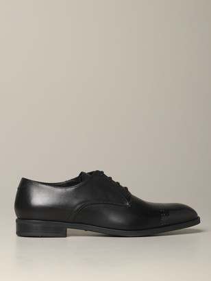Emporio Armani Brogue Shoes Classic Derby In Leather