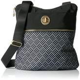 Baggallini Gold International Hanover Cross-Body Basketweave Bag