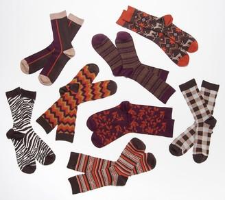 Muk Luks Microfiber Boot Socks Set of 8