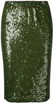 P.A.R.O.S.H. 'Garies' paillette skirt - women - Spandex/Elastane/PVC/Polyimide - S