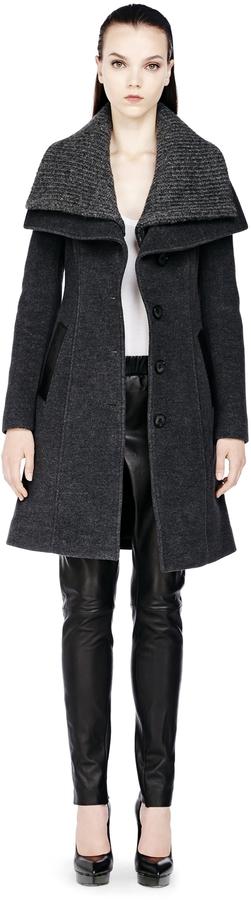 Mackage Mona Classic Buttoned Wool Coat