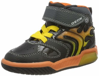 Geox Boy's Inek Light-Up Hightop Sneaker Shoe