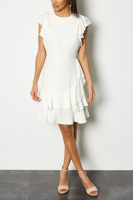 Karen Millen Frill Sleeve Hem Dress