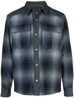 A.P.C. gradient check shirt