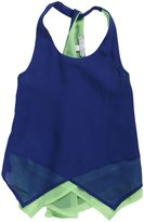 Tractr Chiffon Tank (Kid) - Blue/Green-XL