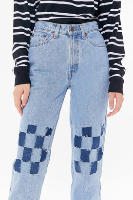Urban Renewal Vintage Recycled Levis Checkerboard Jean