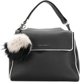 Orciani pom pom soft lined tote - women - Leather - One Size