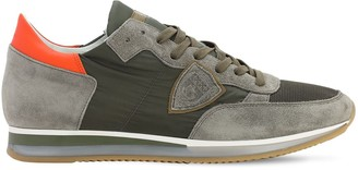 Philippe Model Tropez Suede & Nylon Running Sneakers