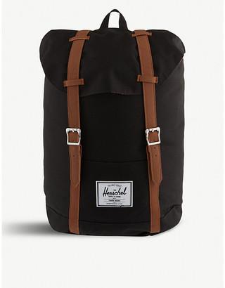Herschel Women's Black and Tan Brown Pu Retreat Backpack
