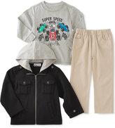 Kids Headquarters Kid Headquarters Little Boys' 3-Pc. Jacket, T-Shirt & Pants Set