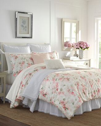 Laura Ashley Wisteria Pink Velvet Comforter Set