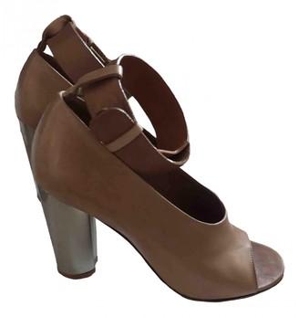 Celine Camel Leather Sandals