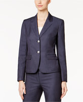Nine West Denim Two-Button Blazer
