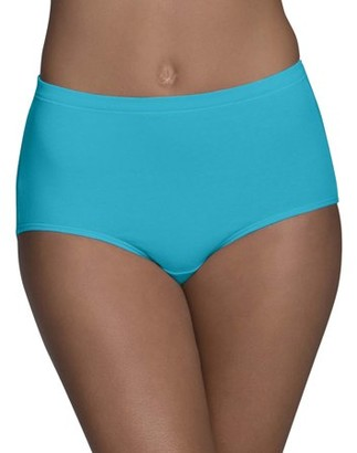 Fruit of the Loom Women's Breathable Cotton-Mesh Brief Underwear, 6 Pack, Size 9