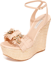 Casadei Jeweled Wedge Sandals