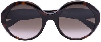 Gucci Havana tortoiseshell round-frame sunglasses