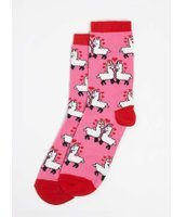 Dorothy Perkins Womens Red Llama In Love Socks- Red