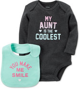 Carter's 2-Pc. My Aunt Is The Coolest Cotton Bodysuit and Bib Set, Baby Girls (0-24 months)