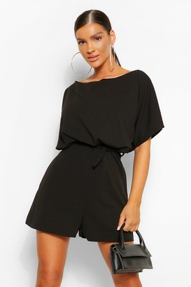 boohoo Belted Playsuit