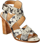 Joie Avery Snake-Embossed Leather Sandal