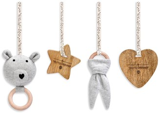 The Little Green Sheep Curved Wooden Baby Play Gym & Charms Set