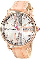 Betsey Johnson Women's BJ00212-09 Analog Display Quartz Pink Watch