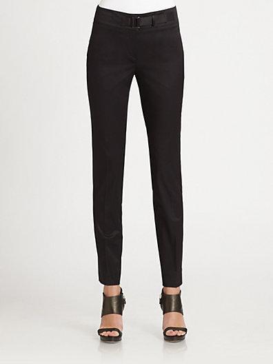 Armani Collezioni Slim Stretch Cotton Pants