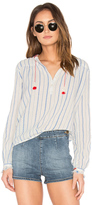 Maison Scotch Embroidered Woven Top
