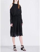 IRO Beolia cold-shoulder georgette dress