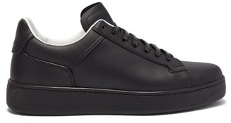 Bottega Veneta Raised Sole Low Top Leather Trainers - Mens - Black