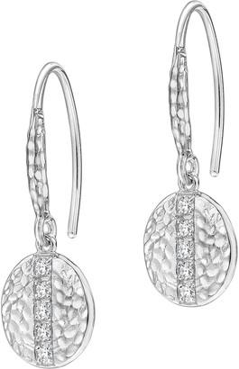 Dower & Hall Lumiere Sterling Silver Geo Sapphire Drop Earrings