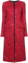 Oscar de la Renta zip front tweed coat